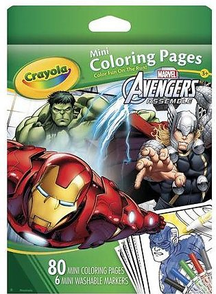 Crayola Avengers Mini Coloring Pages