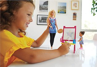 Barbie Art Teacher Doll With Baby