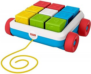 Fisher Price Pull-Along Activity Blocks, Toy Wagon for Babies