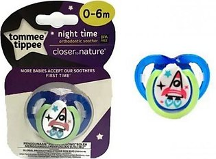 Closer To Nature 1pk Night Time Tommee Tippee Soother 0-6m