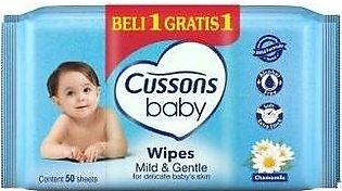 Cussons Baby Wipes Mild Gentle 50 Sheets
