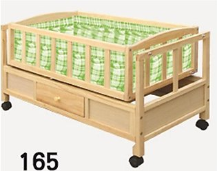 Baby Wooden Swing Cradle Bed With Drawer
