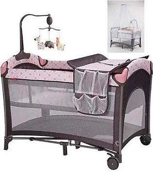 Foldable Baby Play Pen – Pink