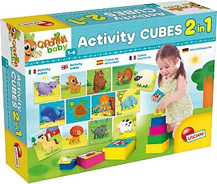 Lisciani Activity Cube With 20 Puzzles