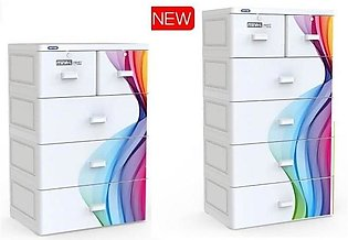 Duytan Plastic Cabinet 7 Color Rainbow With 6 Large Compartments