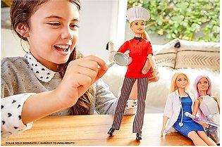 Barbie Chef Doll with Frying Pan