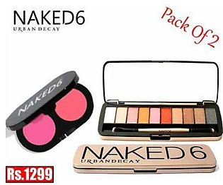 Bundle Of 2 Urban Decay Naked6, 1 Eye shadow Palette and 1 Blush X2