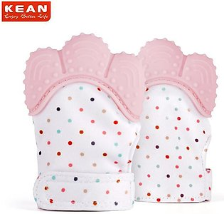 Silicone Baby Pink Teether Pacifier Glove Natural Thumb