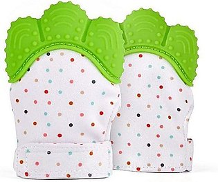 Silicone Baby Green Teether Pacifier Glove Natural Thumb