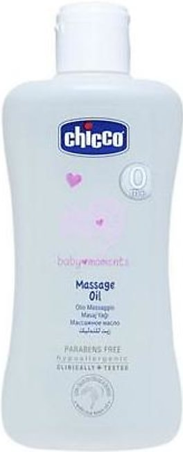 Chicco Massage Oil 200ml Baby Moments Pack 2