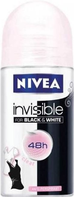 Deodorants and perfumes - Nivea Roll-on Invisible For Black & White (50ml)