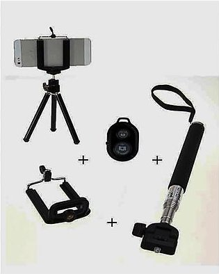 4 in 1 Selfie Stick Black