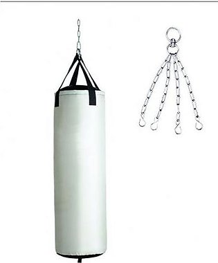 Punching Bag With Chain - White