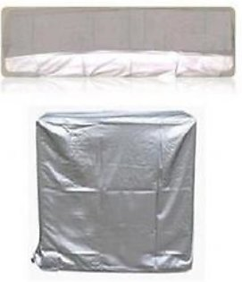 AM Shopping Pack of 2 1 Ton Ac Inverter Dust Cover For Indoor and Outdoor Unit AM Shopping068 Silver