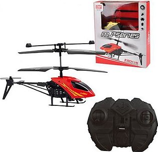 Remote Controlled Mini Metal Helicopter With Charging Dock 2.5 Channel