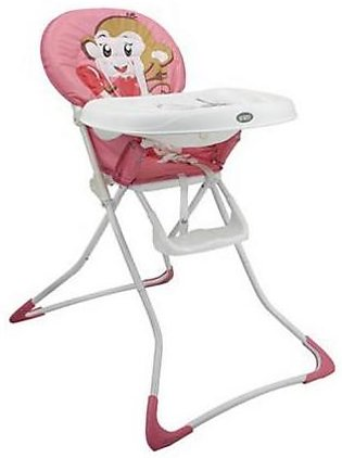Mama & Baby High Chair Monkey Pink