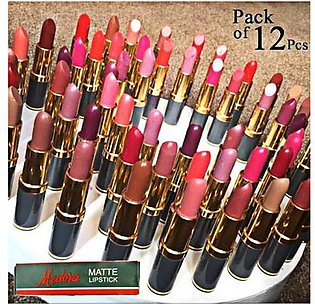 Pack Of 12 Medora Lipsticks Cnb-678 Multicolor