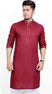 Hyperzone Cotton Kurta For Men With Shalwar HYP-112 Maroon
