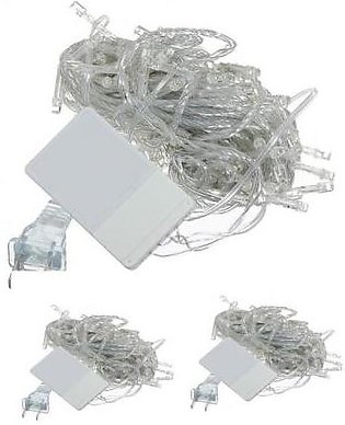 Pack Of 3 Led Fairy Lights - White