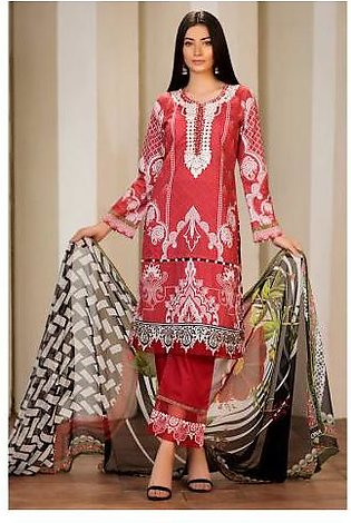Sifona 3 Pcs Unstitched Suit MSC-04 Red
