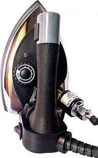 SILVER STAR Commercial Steam Iron With Water Bottle ES300 Black & Gold