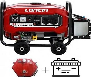 LONCIN 2.5 KW with Big Battery & Gas Kit Generator LC3600DDC Red