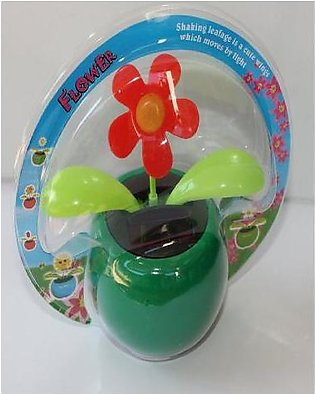 Solar Car Decoration Dancing Shaking Flowers Blue