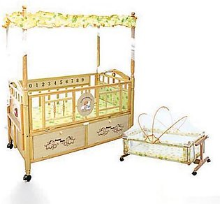Mama & Baby Long Style Wooden Cot For Baby 609 Brown