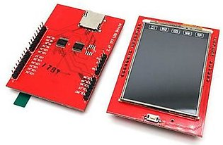 2.4 Tft Lcd Shield Touch Panel Module Tf Micro Sd For Arduino Uno R3