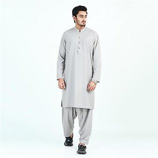 Oxford Cotton Plain Kurta Shalwar for Men OX48 Grey