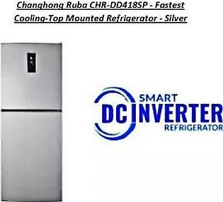 Changhong Ruba Chr-Dd418Sp Fastest Cooling Top Mounted Refrigerator Silver