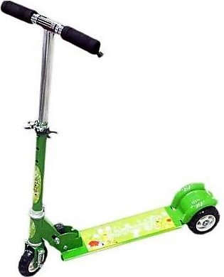 Scooty With Led Lights & Music Green
