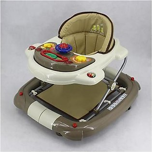 Mama & Baby Walker with Rocker T1078H Khaki & Brown