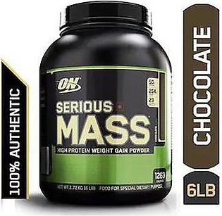 Optimum Nutrition Serious Mass Weight Gainer Powder 6 lbs 2.72 Kg Chocolate