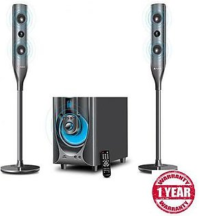 Audionic Sub Woofer with 2 Satellite Speakers RB95 Black
