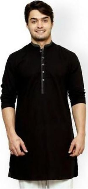 Hyperzone Cotton Kurta For Men HYP-117 Black