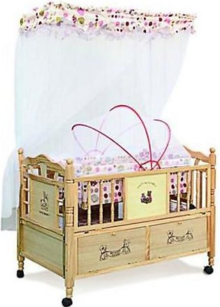 Mama & Baby Wooden Cot For Baby 538-1 Brown