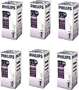 Philips Pack Of 6 E27 Ess LED Bulb 12W Cool Day Light PL-039
