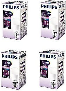 Philips Pack Of 4 Ess LED Bulb 12W E27 Cool Day Light PL-012