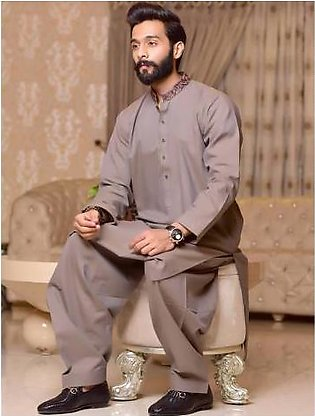 Khas Kurta Shalwar for Men S-6025 Skin
