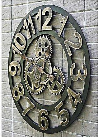 Antique Wall Clock Brown