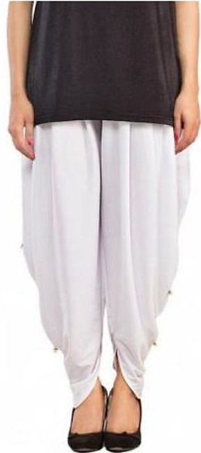 Tulip Shalwar with Pearls DOHG-194 White