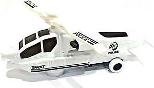 3D Lights Swat Helicopter DYD168A-1 White