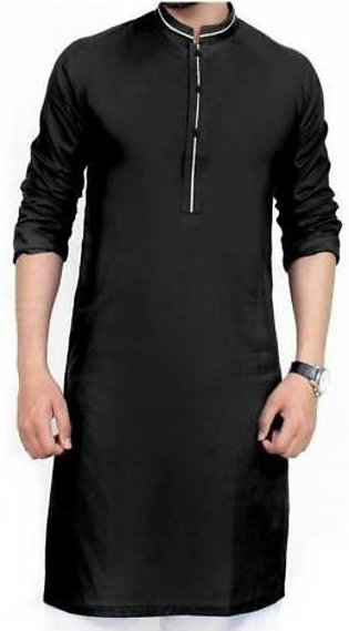 Hyperzone Cotton Kurta For Men With Shalwar HYP-123 Black