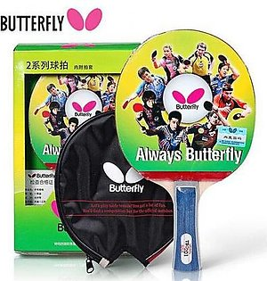 Butterfly Table Tennis Racket With Box And Cover SC-055 Red