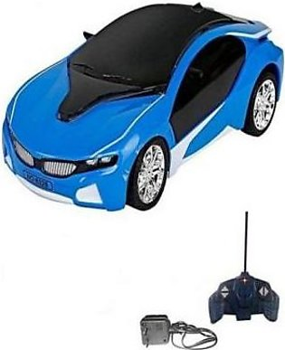 3D Led Chargeable Remote Control Car Blue