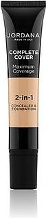 Jordana Complete Cover 2 in 1 Concealer & Foundation Golden Beige