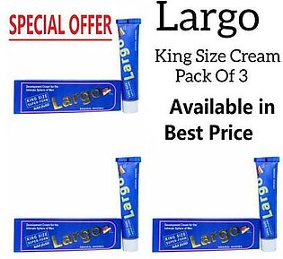 Pack of 3 - Largo King Size Cream