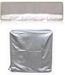 AM Shopping Pack of 2 1 Ton Ac Dust Cover For Indoor and Outdoor Unit AM Shopping051 Silver
