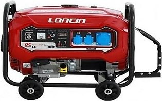 Latest 8 KW Petrol & Gas Generator with Wheels Kit LC10900DDC Red